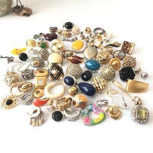 Single Earring Lot Clip on earrings Craft Projects
